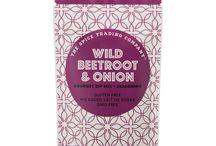 Wild Beetroot & Onion / Caution! Full of yummy flavour. Go Wild! Dip me! Season me! Sauce me! Sample me!