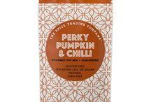 Perky Pumpkin & Chilli / Smooth & spicy pumpkin seasoning. Dip me! Season me! Sauce me! Sample me!