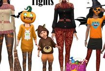 Halloween ts4 cc  / Spooky and funny costumes and objects for ur sims to celebrate Halloween