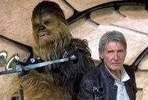 Han Solo, Chewbacca and the Milenium Falcon