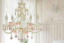 Lighting / Lamps, Chandeliers, some of the prettiest lampshades ever and things that light our way.