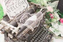 Let's Talk / Communication at it's finest... telephones, typewriters, love notes, etc...