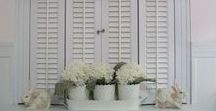 Shutters - Inspiration / Ideas for for old and new shutters.