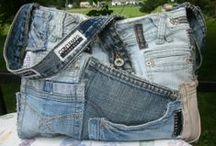 Denim - Recycle, Redo, Bags, Totes, Organizers, Holders Inspiration / Denim bags, totes, organizers... everything denim to hold stuff