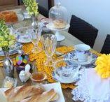 Mesa Posta ♥ Café da Manhã | Chá da Tarde / Sugestões e Inspirações de decoração de mesa - Mesa Posta para café da manhã ou chá da tarde.