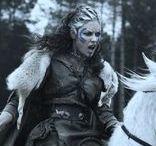 "Characters | Etain & Aeron / Pictish warriors from ""Centurion"", played by OIga Kurylenko (Etain) and Axelle Carolyn (Aeron)"