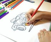 Car Drawings by kids and beginners / Car Drawings and Coloring pages by kids, beginners and learners.