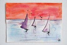 Aquarelles Dessins - Amélie T / Mes aquarelles, Mes dessins mes bricolages...  En vente sur ma boutique Amelie-t sur A Little Market   https://www.alittlemarket.com/boutique/amelie_t-2316757.html