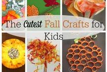 Kids crafts - FALL / Fall just got more fun with these cute and easy crafts!