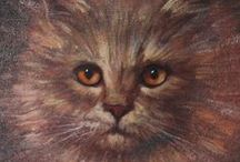 Strange Vintage Cats / A collection of curious WTF vintage felines.