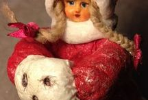 Katerinka.jb.design - My Shop Wadded Christmas toys, collectible, interior dolls / Wadded Christmas toys, collectible, interior dolls