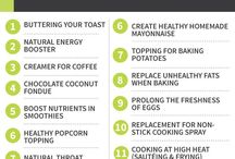Tips for Eating Healthy / Tips for healthier eating from ingredient info to portion sizes to detox waters