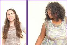 Plus Size Crochet / Crochet garment patterns that include larger sizes and are likely to be flattering to larger figures.