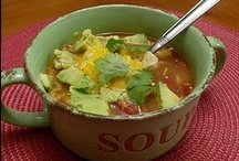 Yes please: soup. / Delicious soups. Relatively simple recipes and ingredients.  / by Amy Marie