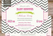 Baby Shower - pink, grey & mint/teal