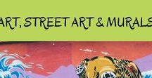 ART, STREET ART AND MURALS / This is a board on all kinds of art including museum exhibits, murals and public installations from all over the world. Visit this board to discover the best in art, murals, street art and public art.