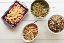Whole Living Lunch Bunch / Here at Whole Living, the editors take turns cooking for a big, healthy lunch to share on Mondays. See the menus and get the recipes for our gluten-free, vegetarian midday meals.