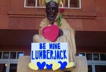Be Mine / Love is in the air! Show the special person in your life you care with a Lumberjack-themed card.