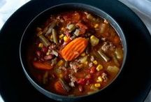 Soup / I love a bowl of hot, delicious, satisfying soup on a cold day - almost nothing better! #soup #recipes #food