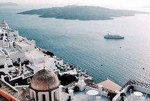 • greek islands • / A collection of beautiful destinations to visit in the greek islands // greece, greek food, greek cities, small greek towns, picturesque places greece, most beautiful islands, summer vacation, best beaches, beach, white sand, clear water, blue water, boat, ferry, athens, santorini, milos, zakynthos, crete, mykonos, meteora, corfu
