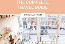 • travel guides • / A collection of all complete travel guides with links to each on finduslost.com // city guides, country guides, island guides, essential travel guides, travel itinerary, road trip itineraries, best european getaways, international trip, travel schedule, must-see places, detailed trip guides, travel blog, best places to eat, iceland guide, tokyo guide, amsterdam guide, santorini guide, budapest guide, barcelona guide, kyoto guide, slovenia guide