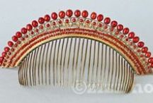 """"""" HAIR PINS & COMBS """" / by JUDITH FISHBACK"""