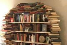 books : stacked, shelved and piled / by me me