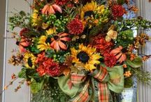 Fall and Autumn Decorating Ideas & Inspiration / Autumn is such a wonder time of year when the tree leaves turn beautiful colors and start to fall....there is a slight chill in the air as temperatures start to turn cool down from the long summer heat .... sounds of high school bands practicing for football games can be heard in the distance ....the smell of homemade pumpkin pie ........   I LOVE this time of year!
