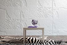 Fabrics, Textiles + Walls / #fabric #textiles #wall #wallpaper #decals / by Romona Sandon Designs