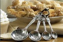 Ganz Measuring Spoons, Ganz Measuring Cups, Ganz Everything Spoons, Ganz Scoops / We carry one of the largest selections on the web.  Find the latest Ganz Measuring Spoons, Kitchen Gifts and more at www.heartsdesiregifts.biz  We are an Authorized Retailer.