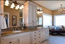 Ideas for Master Bath Project / Chandelier, Lighting, Vanities, Storage, Shower, Tile, Granit ideas for my master bath project.