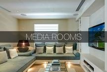 Media Rooms / Getting that popcorn popping! Media rooms are quickly replacing traditional family rooms- here are examples of homes with media rooms