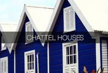 Chattel Houses / Chattel Houses: Small architectural treasures can be found across the island of Barbados providing a thoughtful reflecting of a bygone era. These quaint wooden homes set on blocks often precariously so signifying that the house can be moved from one place to another as the land on which it was situated was not necessarily owned by the house owner.