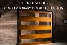 Contemporary Door Catalog / Carriage House Door Company is proud to present a beautiful collection of contemporary garage doors.