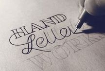 TYPE // Hand Lettering or Hand made type / Gorgeous and creative examples of hand drawn lettering