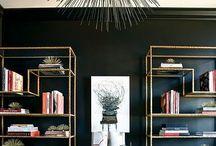 Mood Board ~ Gold & Black Elegant Office / Interior design
