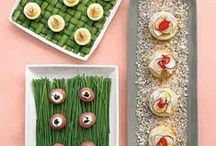 Wedding Reception Food Ideas / Ideas & recipes for your wedding reception menu. / by Martha Stewart Weddings