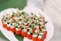 Wedding Reception Food Ideas / Ideas & recipes for your wedding reception menu.