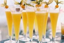 Wedding Cocktail Ideas / Get inspired by these specialty cocktails that guests will enjoy from first toast to the last dance. And spice up your reception with monogrammed napkins and ideas for hors d'oeuvres.