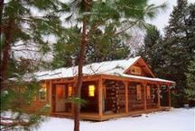 HOMeStyLe ~ Cabin / Ski chalet, mountain lodge, cabin in the woods....getting back to nature in comfort.