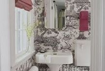 Powder Room / Little rooms that get a little more funky in style.