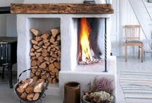 Fireplace  / No matter the style....who doesn't love the warm glow of a fire?