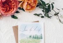 Save-the-Dates / Make the first impression count with save-the-dates that convey your wedding-day style.