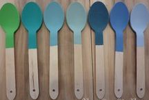 Painted ~Tips / Annie Sloan Chalk Paint colour blends, waxing, how-to videos