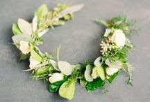 Bridal Flower Crowns / Flower crowns are the perfect hair accessory to complement your beauty look on your wedding day.