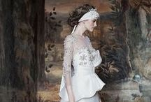 Peplum, Tiered, Pickup & Gathered Wedding Dresses / Gowns with details around the waist. / by Wedding Inspirasi