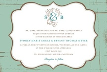 Invitations / Memorable items to invite people to your special occasion. / by Your Wedding Muse