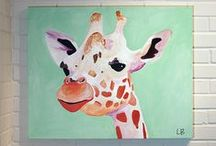 Art - Giraffes / by Cathy Winn