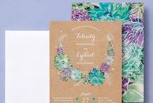 Invitations + Greeting Cards / Wedding invites, save the dates, party invitations, greeting cards + other bridal stationery items