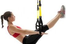 Strength training workouts / TRX and Tabata style workouts for strength training at home.
